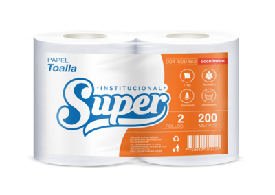 PAPEL TOALLA SUPER 200mt