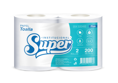 PAPEL TOALLA SUPER PLUS 200mt